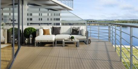 die balkonfliese bergo typ xl aus pp kunststoff. Black Bedroom Furniture Sets. Home Design Ideas